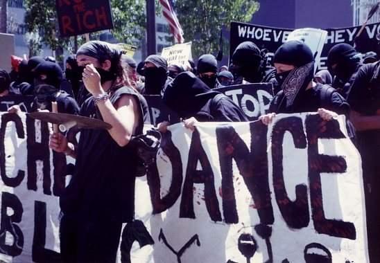 anarchist dance bloc...