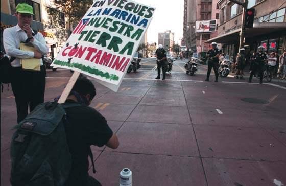 Protester Symbolical...