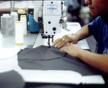 Sweatshop worker on ...