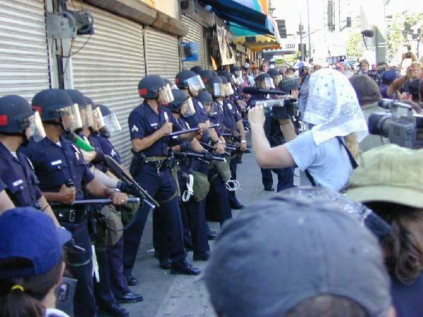 Corner the LAPD...