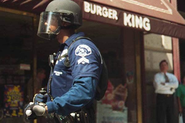 police ensure the sa...