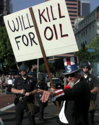will kill for oil...