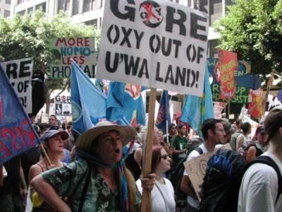 oxy out of u'wa land...