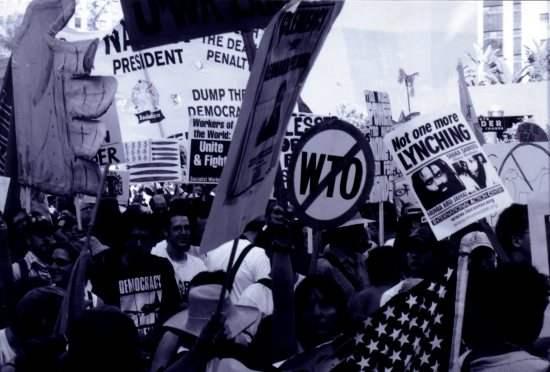 Activists march...