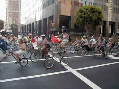 tall bike take over...