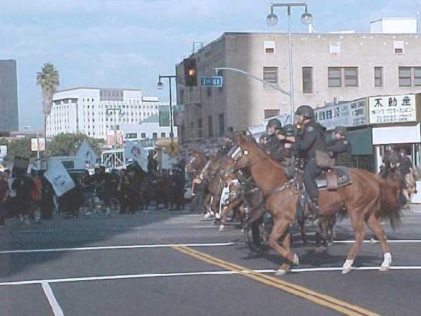 horses charging at o...
