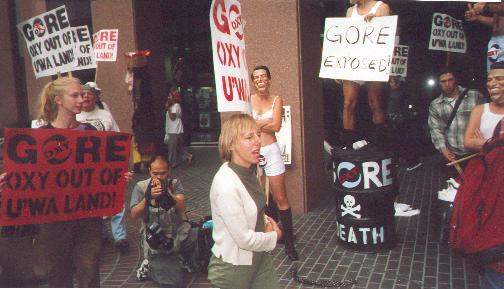 Protest at Gore HQ, ...