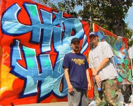 Graffiti artists at ...