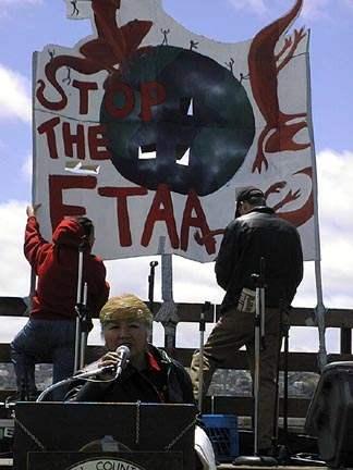 FTAA Demo, Larsen Pa...