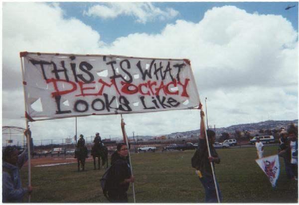 Protesters represent...