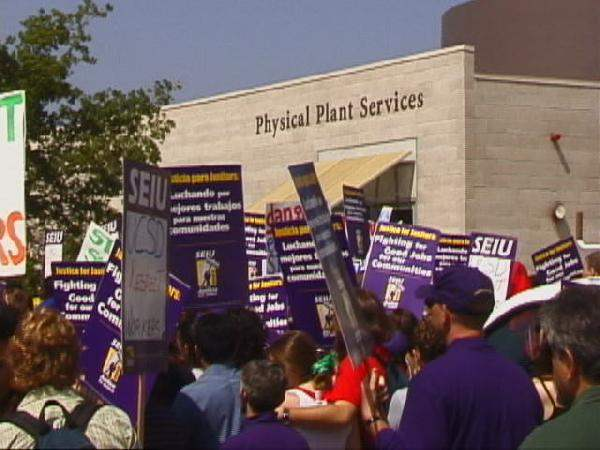 UCSD janitors at the...