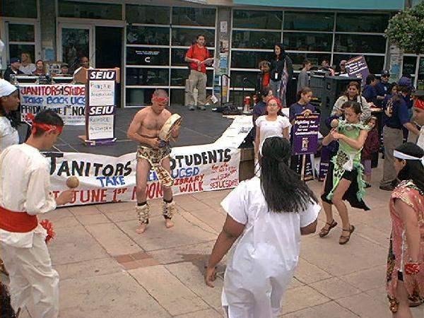 aztec dancers at the...