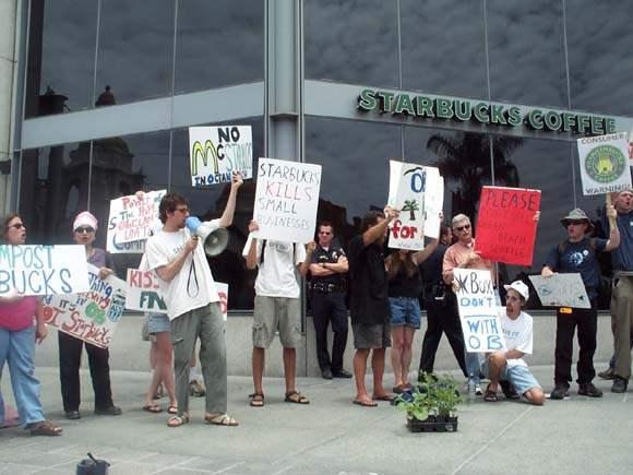 Starbucks protest...