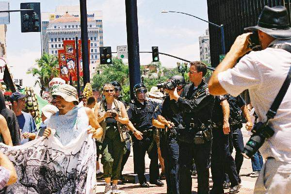 Cops Video Protester...