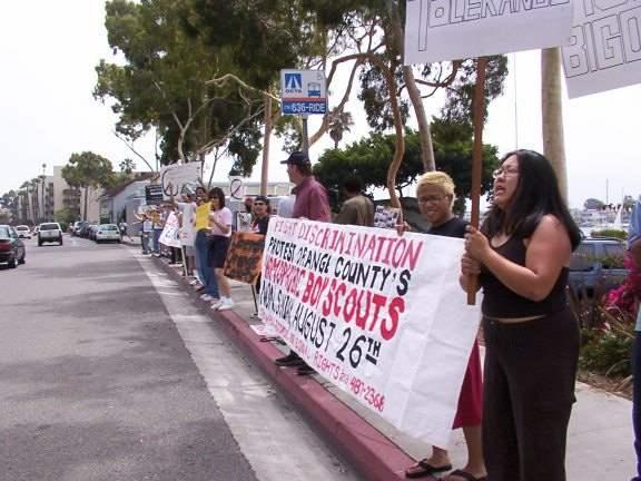 75 Protest Boy Scout...
