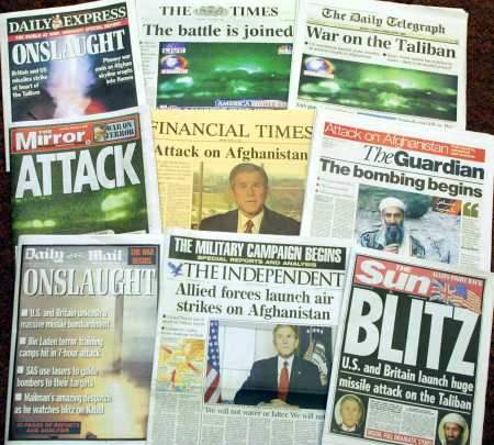 front pages...