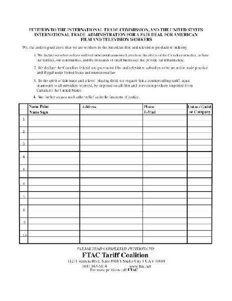 FTAC petition to sto...