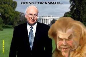 BUSH GOES FOR A WALK...