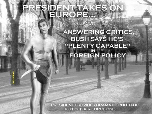 BUSH TAKES PARIS...