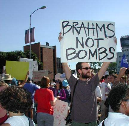 Brahms Not Bombs...