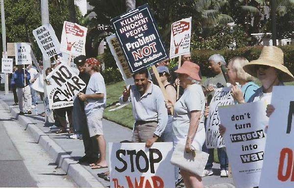 Anti-War Protestors ...