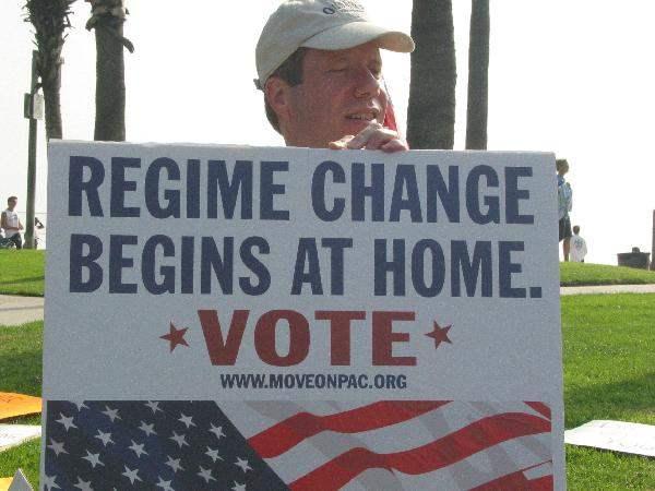 Regime change begins...
