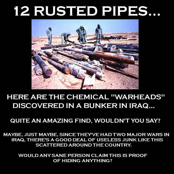 12 RUSTED PIPES...