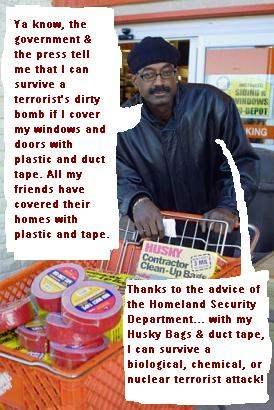 DUCT TAPE & PLASTIC!...