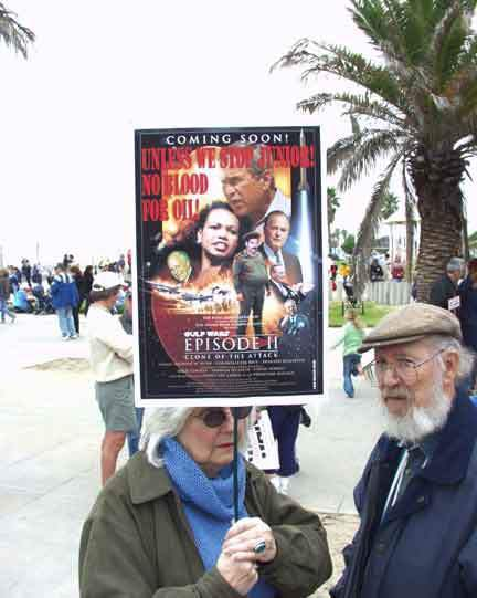 Santa Monica protest...