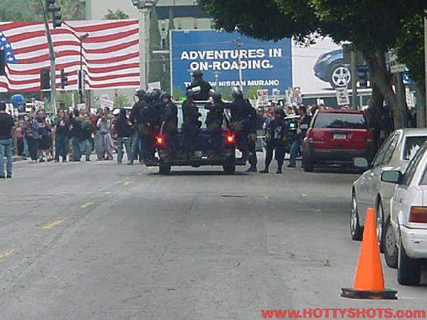 Hollywood protest...