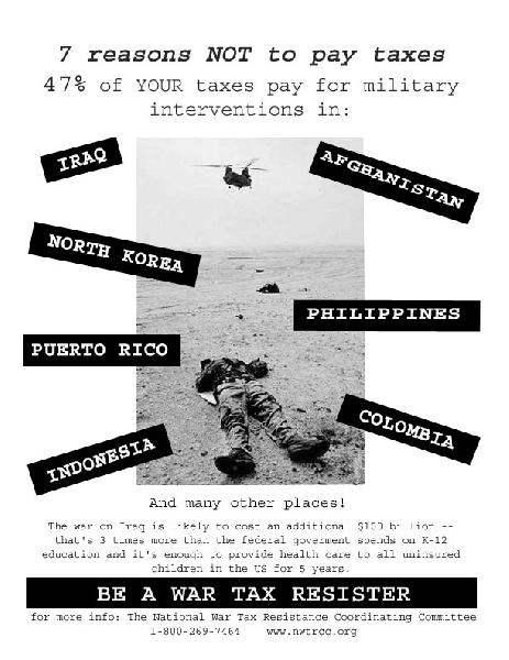 war tax resistance f...