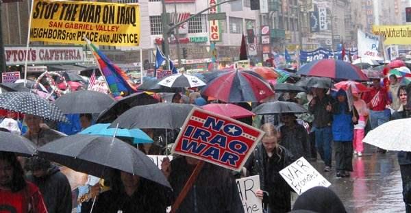 Umbrellas in the Rai...