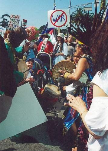 drumming...