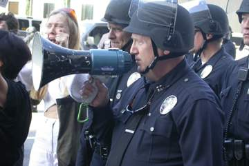Police on the mic...