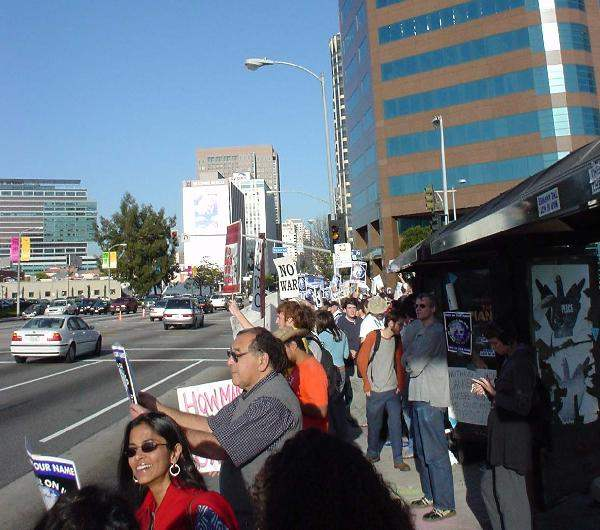 Demonstrators at Fed...