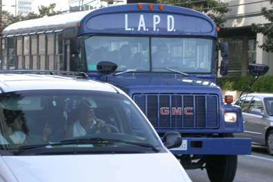 LAPD bus at Sepulved...