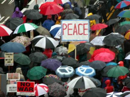 peace march...