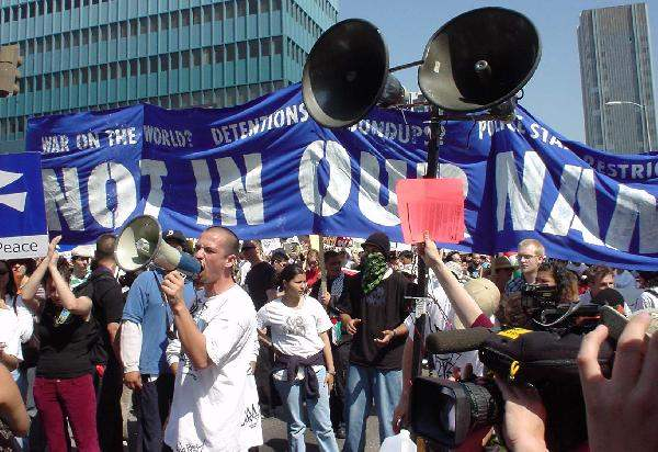 Man with Bullhorn...