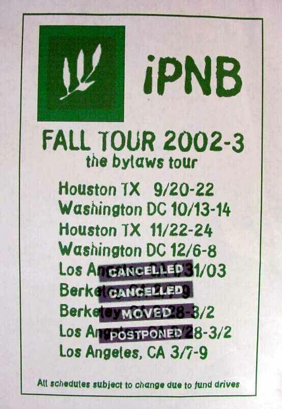 iPNB fall tour...