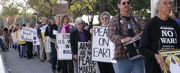 (1) Anti-War protest...