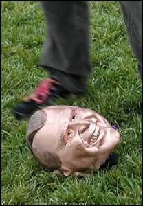 Head of Bush statue ...