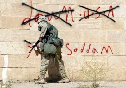 GRAFFITI IN IRAQ...