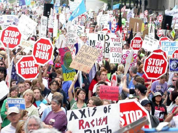 (1) BUSH PROTEST IN ...
