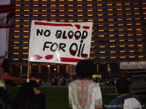 No Blood For Oil!...