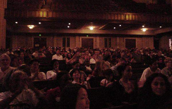 View of Audience...