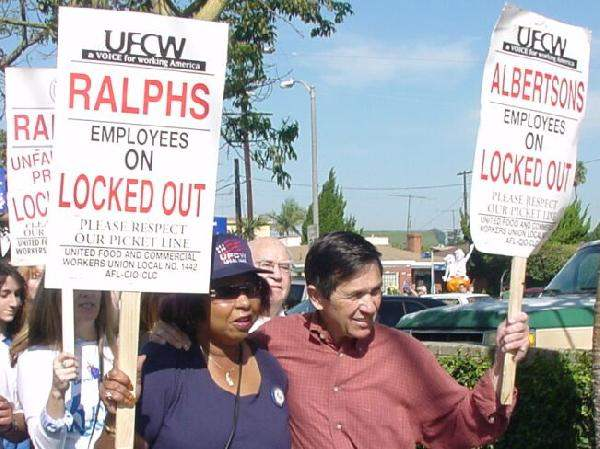 on the picket line...