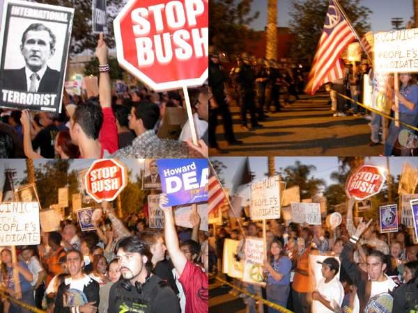 Photos: Bush Protest...