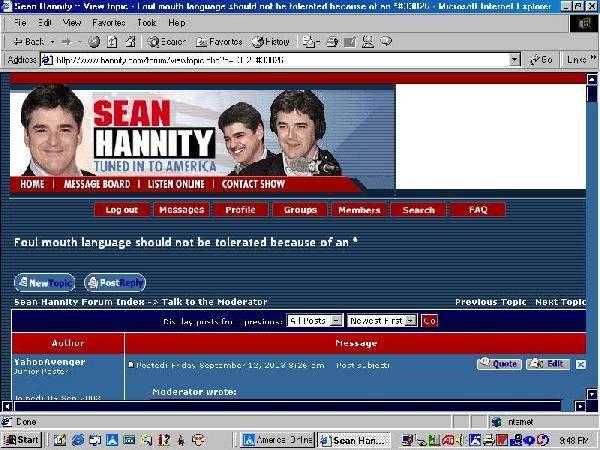 Hannity Forum Modera...