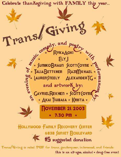 Trans/Giving Flyer...