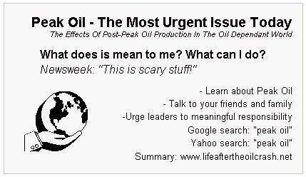 Peak Oil, a plea to ...